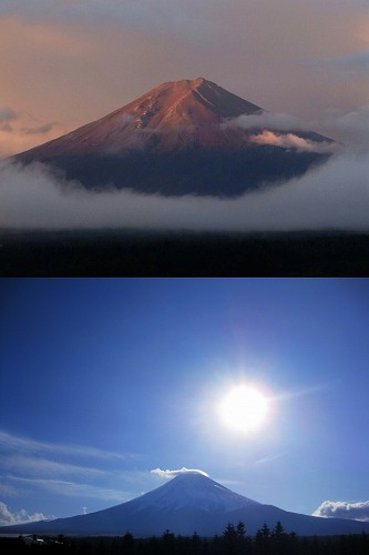 朝富士 日の出