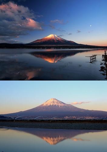 逆さ富士 鏡富士