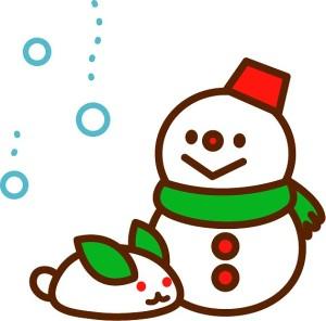 時候の挨拶 1月下旬 雪だるま