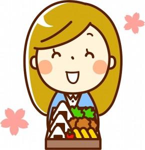 花見 弁当 彼氏
