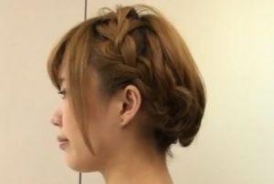 浴衣 髪型 ショート2 やり方