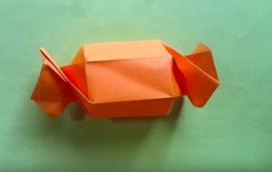 ハロウィンの折り紙 キャンディボックスの手順8
