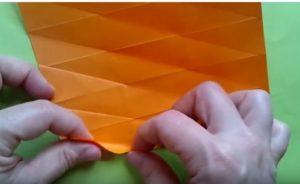 ハロウィンの折り紙 キャンディボックスの手順5