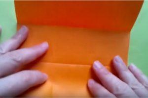 ハロウィンの折り紙 キャンディボックスの手順2