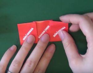 ハロウィンの折り紙 キャンディ手順3