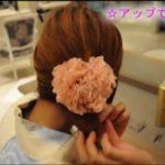 浴衣の髪型ロングの編み込み