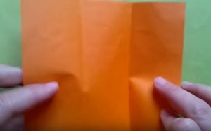 ハロウィンの折り紙 キャンディボックスの手順1